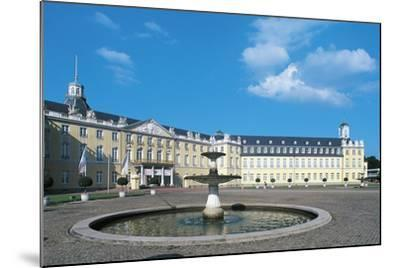 The Fountain in Karlsruhe Palace Courtyard--Mounted Photographic Print