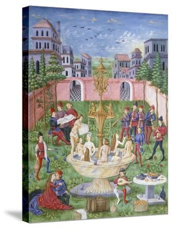 The Fountain of Life: Singers and Musicians in a Garden--Stretched Canvas Print