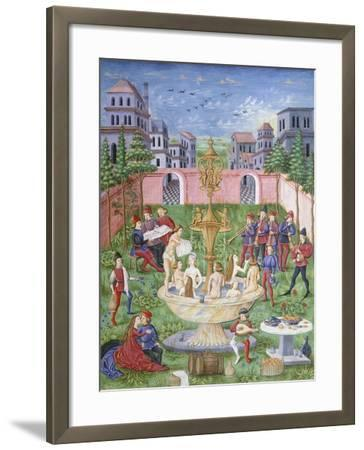 The Fountain of Life: Singers and Musicians in a Garden--Framed Giclee Print