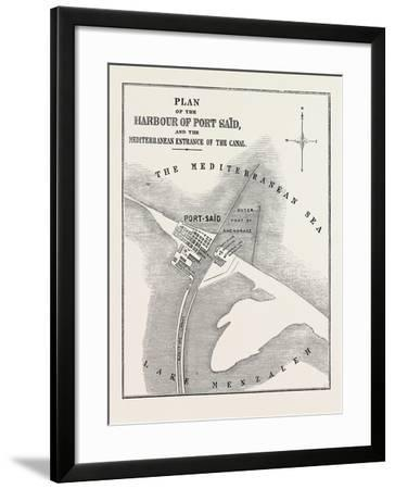 The Isthmus of Suez Maritime Canal--Framed Giclee Print