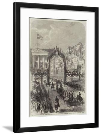 The Danish Royal Marriage--Framed Giclee Print