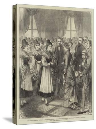 The Imperial Wedding at Vienna--Stretched Canvas Print