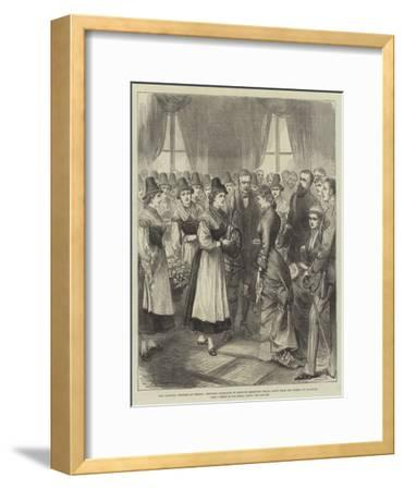 The Imperial Wedding at Vienna--Framed Giclee Print