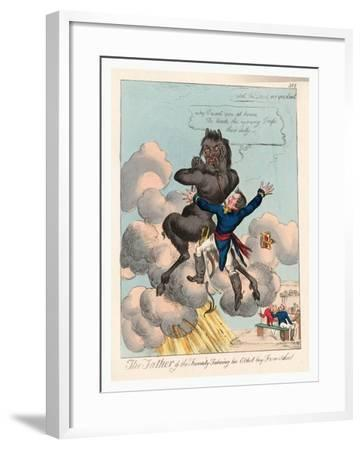 The Father of the Family Takeing [Sic] His Eldest Boy from School--Framed Giclee Print