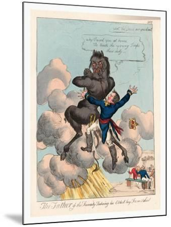 The Father of the Family Takeing [Sic] His Eldest Boy from School--Mounted Giclee Print