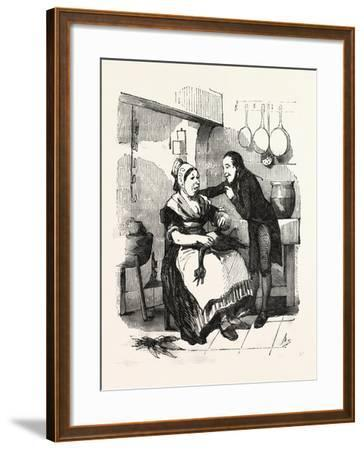 The Cook and Her Admirer in the Kitchen--Framed Giclee Print