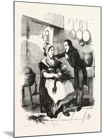 The Cook and Her Admirer in the Kitchen--Mounted Giclee Print