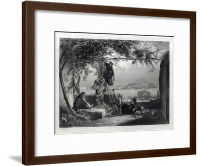 The Gulf of Baiae. Baiae or Baia Is in the Comune of Bacoli in the Campania Region of Italy. Art Wo--Framed Giclee Print