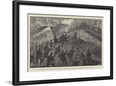 The German Military Manoeuvres in Schleswig--Framed Giclee Print