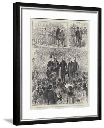 The Prince of Wales Opening the Apprentices' Exhibition at the People's Palace--Framed Giclee Print