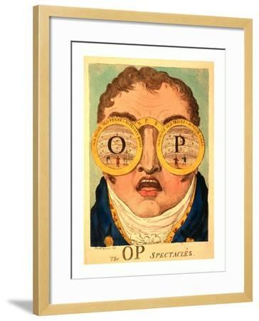 The Op Spectacles--Framed Giclee Print