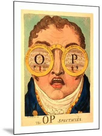 The Op Spectacles--Mounted Giclee Print