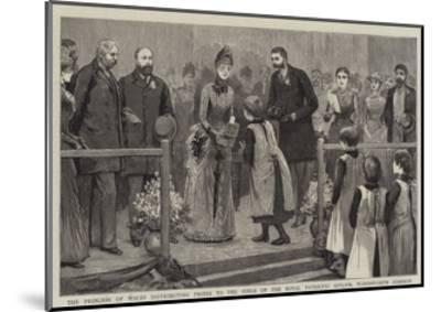 The Princess of Wales Distributing Prizes to the Girls of the Royal Patriotic Asylum--Mounted Giclee Print