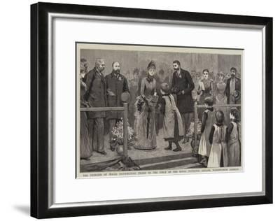 The Princess of Wales Distributing Prizes to the Girls of the Royal Patriotic Asylum--Framed Giclee Print