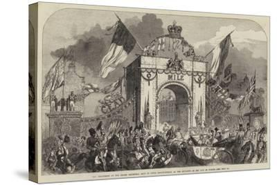 The Procession at the Grand Triumphal Arch in Upper Baggot-Street--Stretched Canvas Print