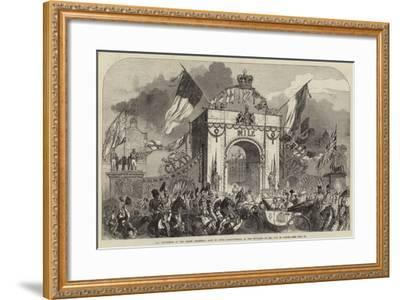 The Procession at the Grand Triumphal Arch in Upper Baggot-Street--Framed Giclee Print