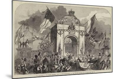 The Procession at the Grand Triumphal Arch in Upper Baggot-Street--Mounted Giclee Print