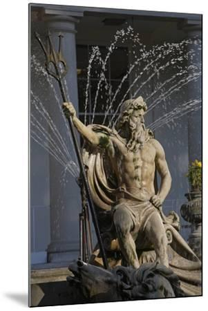 The Neptune Fountain with the Regency Style Municipal Offices in the Background--Mounted Photographic Print