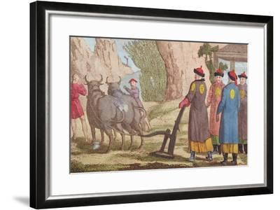 The Ploughing Festival in China--Framed Giclee Print