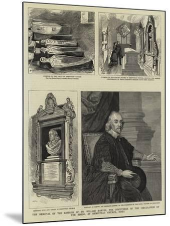 The Removal of the Remains of Dr William Harvey--Mounted Giclee Print