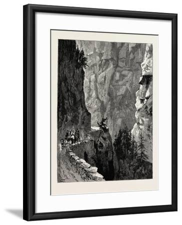 The Recent Accident in the Albula Pass--Framed Giclee Print