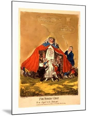The Modern Circe or a Sequel to the Petticoat--Mounted Giclee Print