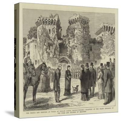 The Prince and Princess of Wales at Raglan Castle--Stretched Canvas Print