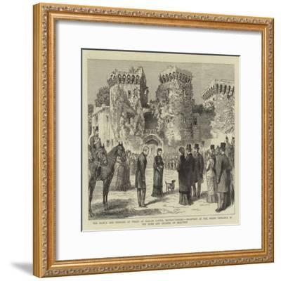 The Prince and Princess of Wales at Raglan Castle--Framed Giclee Print