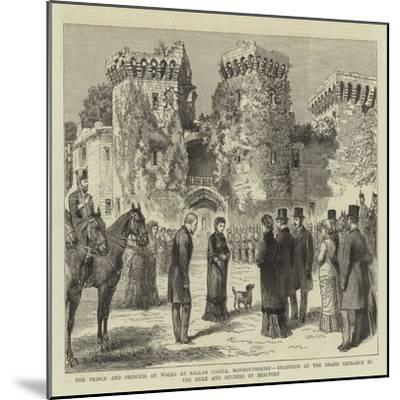 The Prince and Princess of Wales at Raglan Castle--Mounted Giclee Print