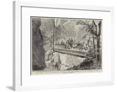 The Queen's Visit to Aix-Les-Bains--Framed Giclee Print