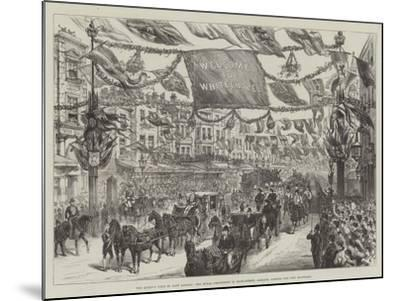 The Queen's Visit to East London--Mounted Giclee Print