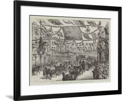 The Queen's Visit to East London--Framed Giclee Print