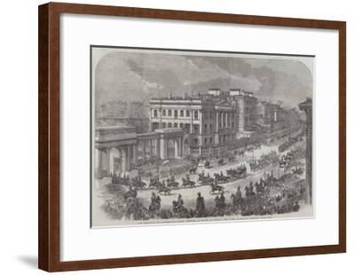 The Reception of Princess Alexandra (Princess of Wales) in London--Framed Giclee Print