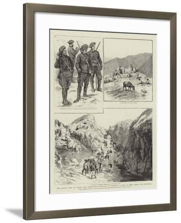 The Queen's Visit to Grasse--Framed Giclee Print
