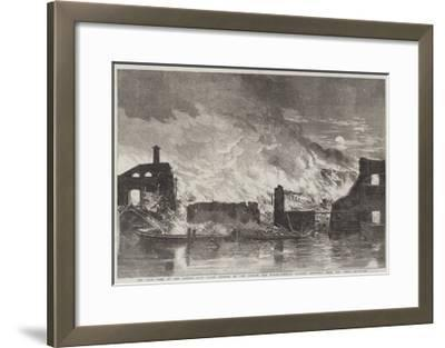 The Late Fire at the Camden-Town Goods Station of the London and North-Western Railway--Framed Giclee Print