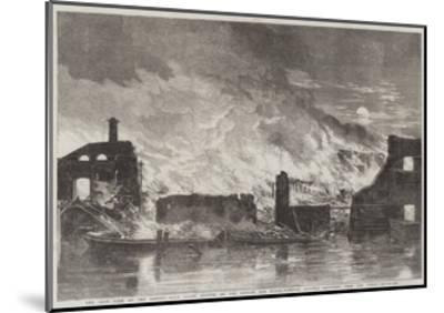 The Late Fire at the Camden-Town Goods Station of the London and North-Western Railway--Mounted Giclee Print