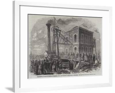 The Prince of Wales at Shireoaks Coalmine--Framed Giclee Print