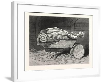 The Recovered Figure-Head of the Missing British Training-Ship Atalanta Sketched at St. Johns--Framed Giclee Print