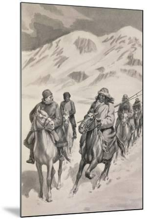Tibetan People from Trans-Himalaya--Mounted Giclee Print