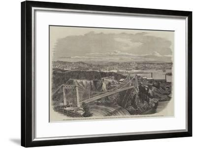 The Suspension Bridge over the River St John--Framed Giclee Print