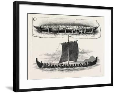 The Viking's Ship--Framed Giclee Print