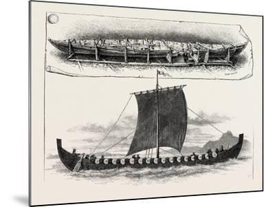 The Viking's Ship--Mounted Giclee Print