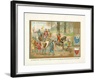 The Young Alexios IV Angelos Brings Baldwin Ix--Framed Giclee Print