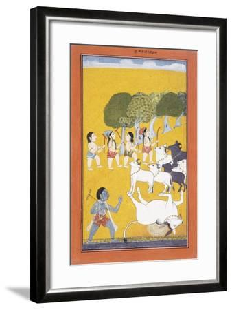 The Young Krishna Kills the Demon Vatsasura--Framed Giclee Print
