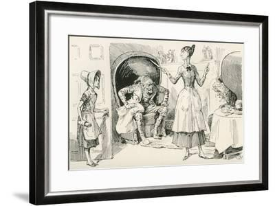 The Smallweed Family. What Work are You About Now? Says Judy Smallweed--Framed Giclee Print