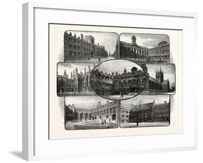 The Thirteenth and Fourteenth Century Colleges of Oxford University--Framed Giclee Print