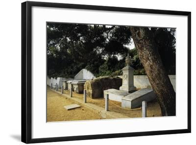 Tomb of Giuseppe Garibaldi in Centre of Family Cemetery--Framed Photographic Print