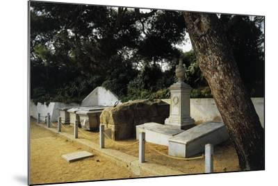 Tomb of Giuseppe Garibaldi in Centre of Family Cemetery--Mounted Photographic Print