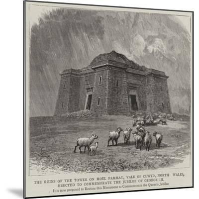 The Ruins of the Tower on Moel Fammau--Mounted Giclee Print