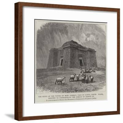 The Ruins of the Tower on Moel Fammau--Framed Giclee Print